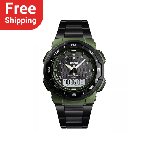 SKMEI 1370  Stainless Steel Strap Men's Watch Waterproof