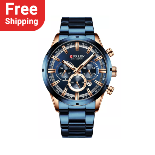 CURREN 8355 New Fashion Mens Watches with Stainless Steel