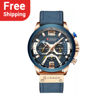 CURREN 8329 Casual Sport Watches for Men Leather Wrist Watch