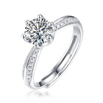 Mossant Carat Ring Women's S925 Silver Inlay