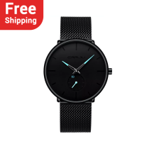 CRRJU 2150 Fashion Mens Watches Quartz Slim Mesh Steel Waterproof