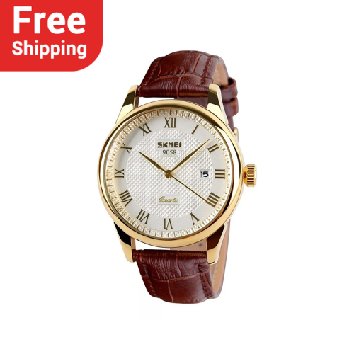 SKMEI 9058 Fashion Men Business Casual Quartz Watches