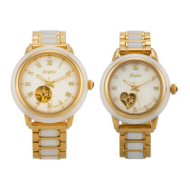 GEZFEEL Jade Couple Watch Automatic mechanical  Business Wristwatch