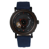 BEWELL  ZS-W158A Men's Automatic Mechanical Watch Hollow Wooden Canvas Strap