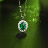 S925 Silver Necklace Pendant Inlaid Necklace