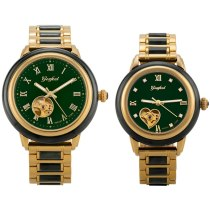 GEZFEEL Couple Watch Jade business automatic mechanical jade hollow