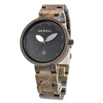 Bewell Woman Round Watch Women's Wooden Clock Top Luxury Watch Brand New Style Fashion For Ladies Mom Gift relogio feminino 152A