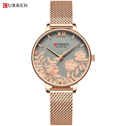CURREN 9065 Women Watches Top Brand Luxury Stainless Steel Strap