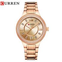 CURREN 9004 Women Watches Top Brand Luxury Stainless Steel Strap
