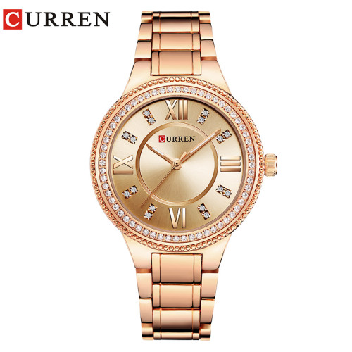 CURREN 9004 Women Watches Top Brand Luxury Stainless Steel Strap