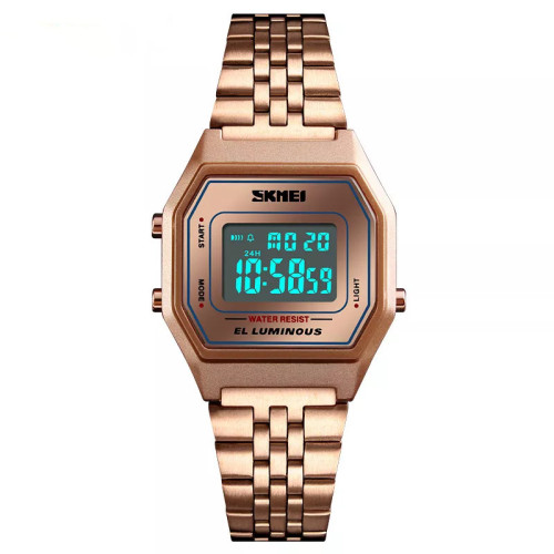SKMEI 1345 Fashion Women Digital Watch Stainless Steel