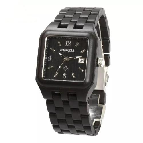 BEWELL men's watch natural ebony wood watch top brand luxury watch men's assembly lightweight sport carton gift 111A