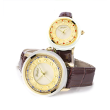 GEZFEEL Waterproof white jade Couple Watches with Different Patterns Embossed