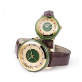 GEZFEEL Waterproof Jasper Couple Watches with Different Patterns Embossed