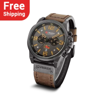 CURREN 8314 Waterproof Sport Wrist Watch Quartz Leather