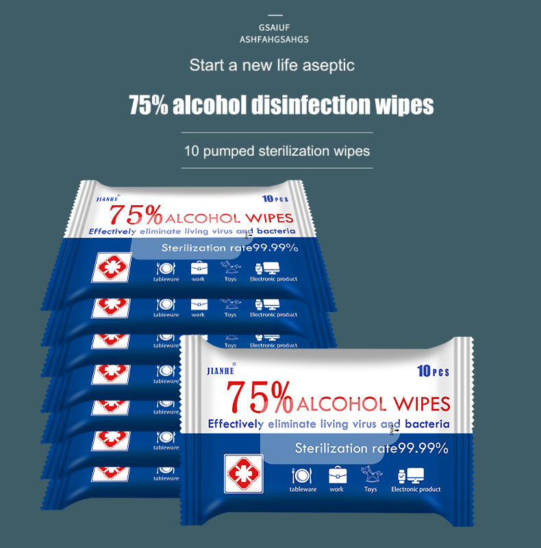 -Shipping From USA 2 box,75/% Cotton Slices Sterile Gauze Pads Individually Wrapped Wet Wipes 120pcs Wet Wipes 1Cans 60Pieces