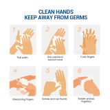 10 bottles | 99.9% Kill Germs | Instant Hand Sanitizer Gel| Wash Free Disinfection