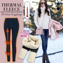 Misscelia Thermal Fleece Denim Jeggings