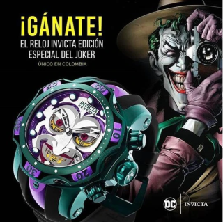 2020-DC INVICTA COMICS JOKER-CLOWN JOINT NAME LIMITED LARGE DIAL LUMINOUS MEN'S WATCH