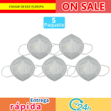 5 PCs mask oral adults filter dust PM2.5 pollution, respirator hygiene protective valve