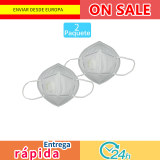 2 PCs mask oral adults filter dust PM2.5 pollution, respirator hygiene protective valve