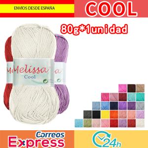 Melissa Cool Hilo Acrílico Ovillo de Lana Fresca para DIY Tejer y Ganchillo (80g*1u  )