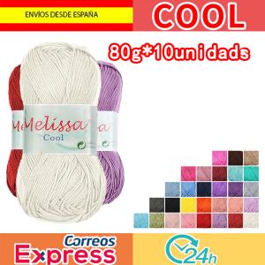 Melissa Cool Hilo Acrílico Ovillo de Lana Fresca para DIY Tejer y Ganchillo (10u * 80g)