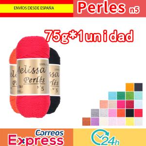 Melissa Perlés 5-Hilo de Algodón para Ganchillo Hilado 100% Algodón para DIY y Tejer a Mano(75 g * 1 unidad)