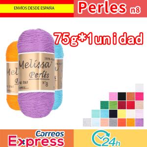 Melissa Perlés 8 - Hilo de Algodón para Ganchillo Hilado 100% Algodón para DIY y Tejer a Mano, (75 g * 1 unidad)