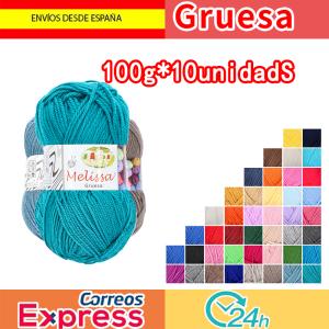 Melissa Hilo Acrílico Ovillo de Lana Premium para DIY Tejer y Ganchillo (10u * 100g) Gruesa