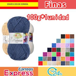 Melissa Hilo Acrílico Ovillo de Lana Premium para DIY Tejer y Ganchillo (1u * 100g), Fina