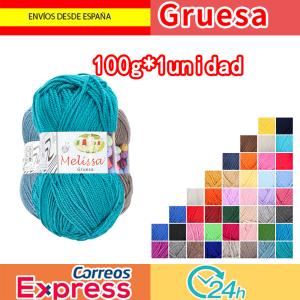 Melissa Hilo Acrílico Ovillo de Lana Premium para DIY Tejer y Ganchillo (1u * 100g) Gruesa