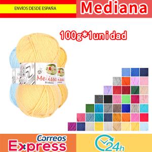 Melissa Hilo Acrílico Ovillo de Lana Premium para DIY Tejer y Ganchillo (1u * 100g), Mediana