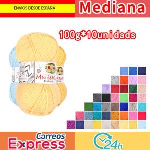 Melissa Hilo Acrílico Ovillo de Lana Premium para DIY Tejer y Ganchillo (10u * 100g) Mediana