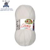 Tesosy Melissa Hilo 100% Acrilico Ovillo de Lana (350m 100g * 1=50g * 2) Premium para DIY Tejer y Ganchillo, Certificado OEKO-TEX Standard 100,Agujas Talla 4(1/2)-5