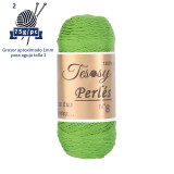 Tesosy Perlés 8 Hilo 100% Algodon Puro Hilado Certificado OEKO-TEX Standard 100, 450 m/PC 75g* 1