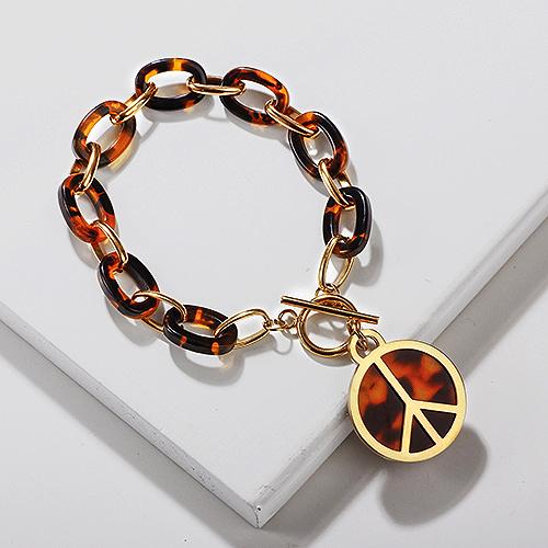 Stainless Steel Leopard Charm Bracelets -SSBTG143-13723
