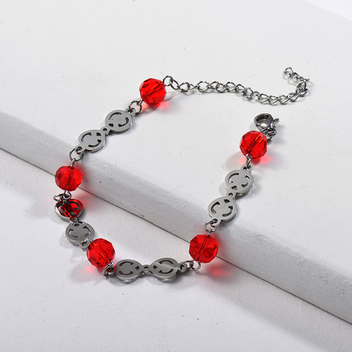 Bracelets en acier inoxydable à breloques simples -SSBTG143-24598