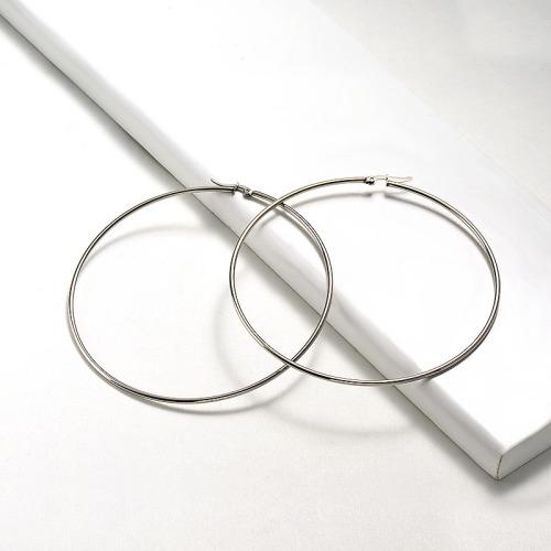 90-95mm Stainless steel Hoop Earrings -SSEGG16-20020-S