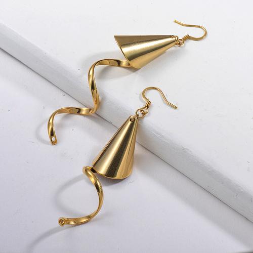 Boucles d'oreilles pendantes géométriques à la mode -SSEGG143-15357