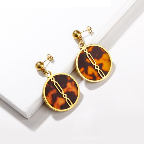 Leopard Earrings in Stainless Steel -SSEGG143-13742