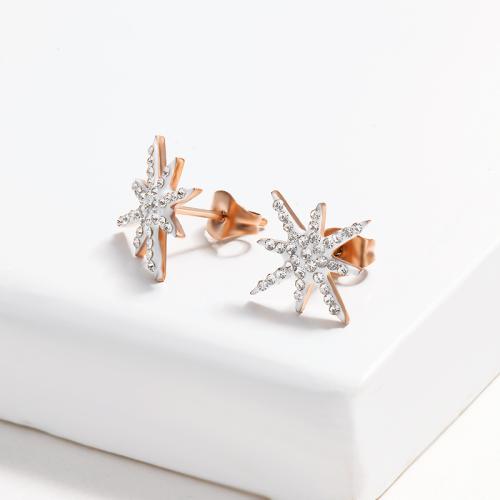 Aretes con Pavimento de Cristal Estrella -SSEGG143-14841-R