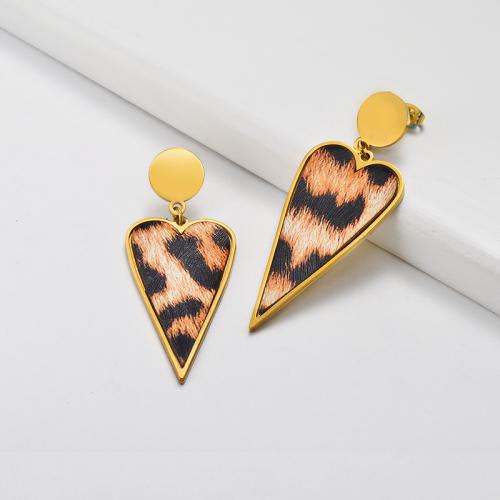 Leopard Earrings in Stainless Steel -SSEGG143-19808