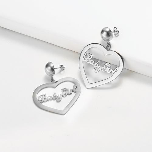 Heart Babygirl Golden Earrings -SSEGG143-18256-S