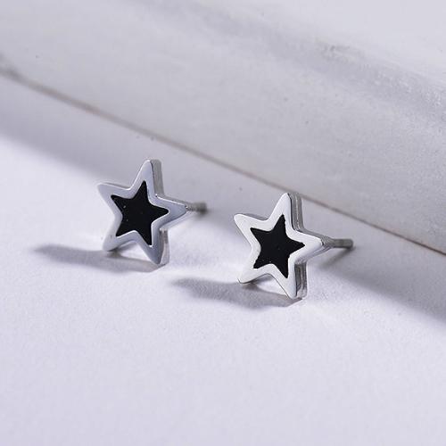 Pendientes Estrella Concha Madreperla -SSEGG143-8729