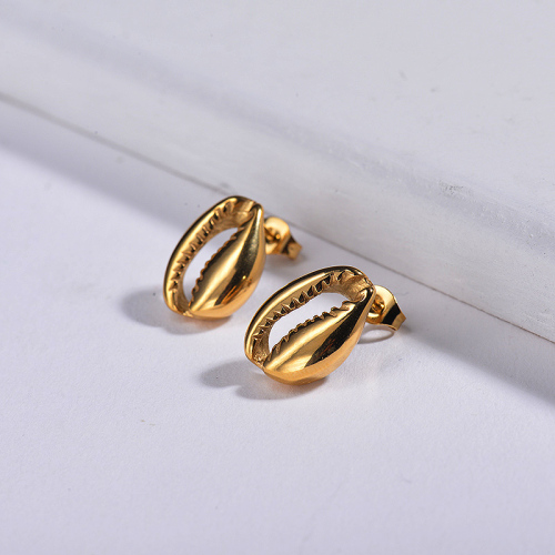 Metal Shell Stainless Steel Earrings -SSEGG143-17026