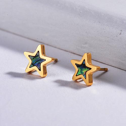 Pendientes Estrella Concha Madreperla -SSEGG143-8756