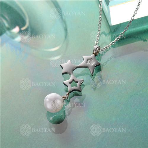 Collar de plata con estrella de estilo de moda