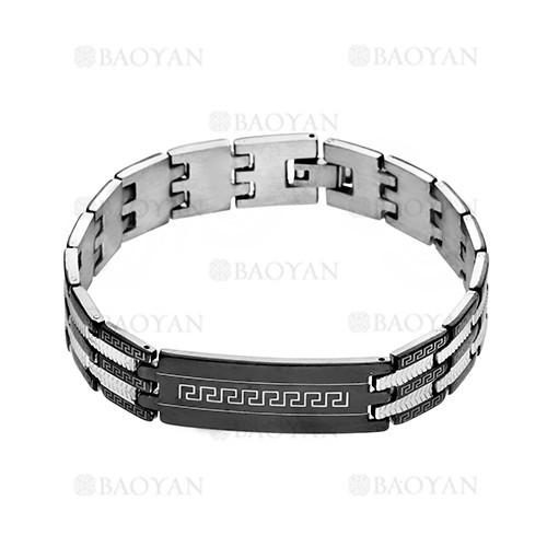 pulsera de modelos de explosion moda en acero plateado inoxidable para hombre -SSBTG1154515