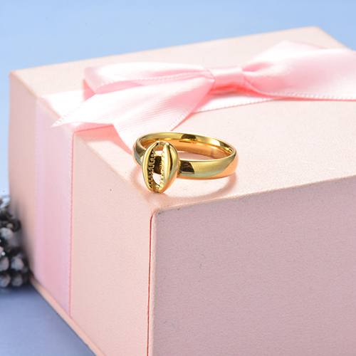 Wholesale Stainless Steel Gold Plated Conch Promise Rings For Her